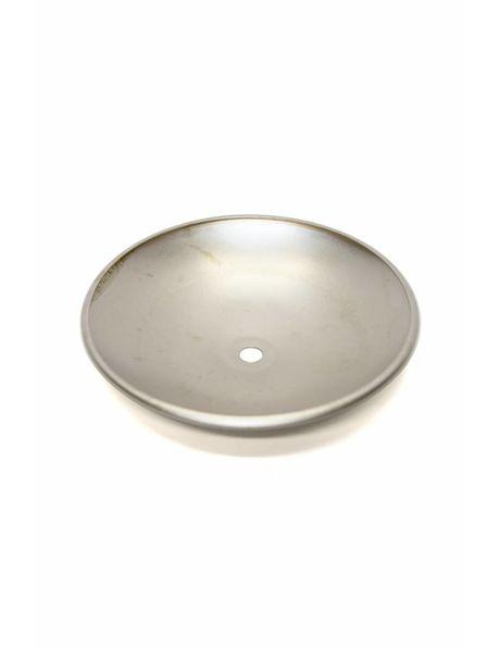 Afdekplaat, mat zilver, 14.5 cm diameter