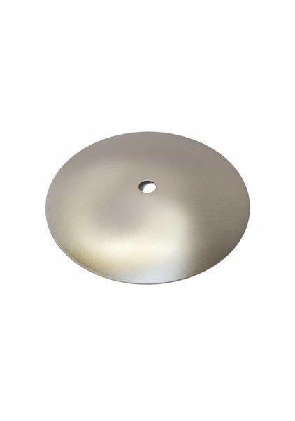 Afdekplaat, Rond, Mat Zilver 12,5 cm