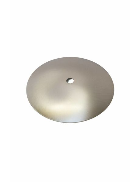 Ceiling cap, Matt Silver Color, 12.5 cm / 4.9 ich  diameter, quite flat model