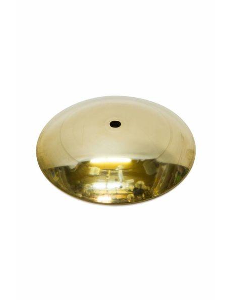 Messing afdekplaat, 14.5 cm diameter