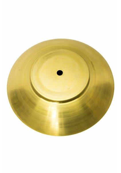 Afdekplaat voor Lampglas, 19.5 cm diameter, Koper