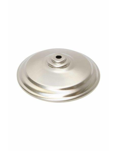 Afdekplaat voor hanglamp of lampglas, zilverkleurig