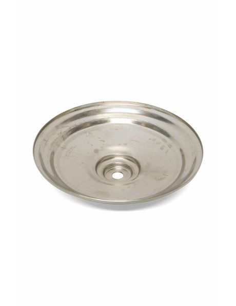 Ceiling plate for pendant lamp or lamp glass, silver-coloured