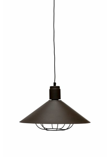 Retro Pendant Lamp, Brown Metal