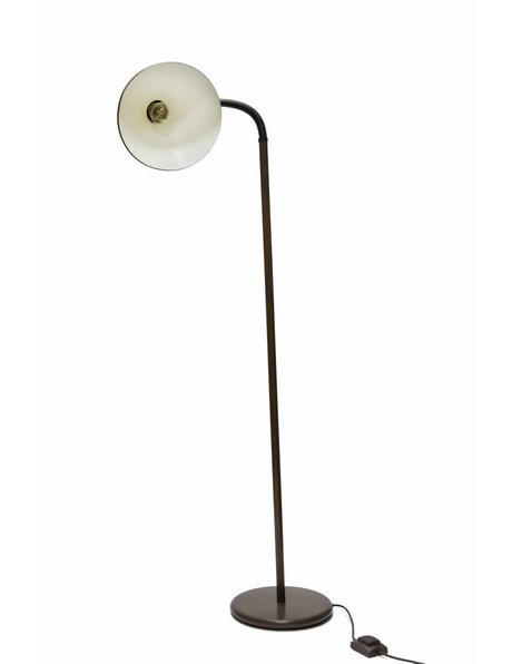Vintage floor lamp, brown coloured with bendable stem, 1960s