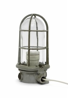 Industrial Table Lamp, Cage Lamp