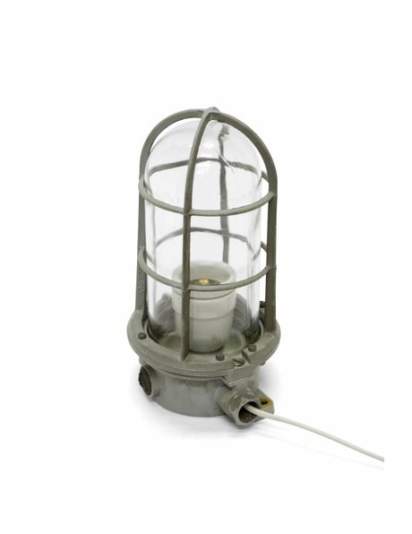 Industrial table lamp, cage lamp, 1950s