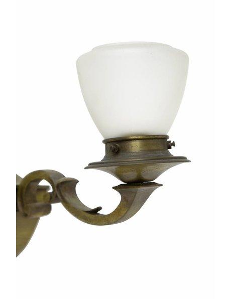 Grote wandlamp, koper, vrij klassiek, ca. 1930