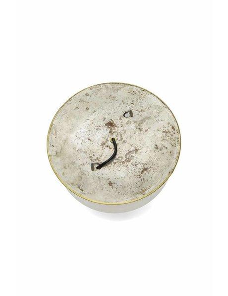 Antieke plafonniere, jaren 30, sierlijk geslepen glas