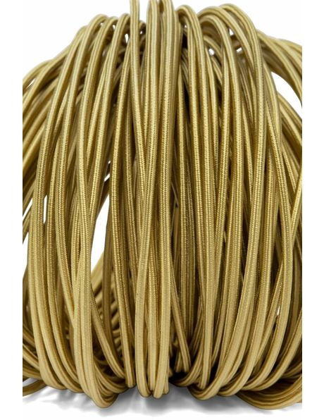 Cord, made of fabric, 3-core, gold, round