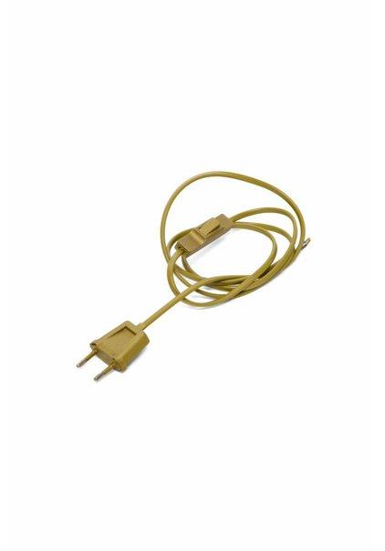 Lampsnoer, met stekker en knippertje, goudkleurig