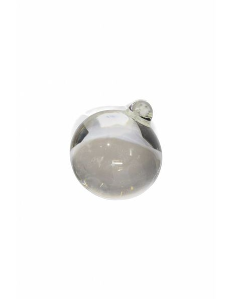 Chandelier bead, solid crystal glass