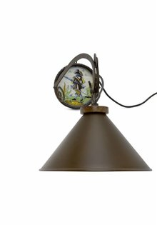 Metal Wall Lamp, Wrought Iron, 1960s