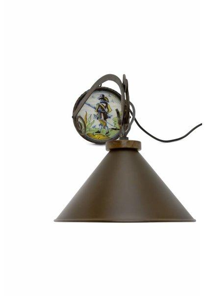 Metal Wall Lamp, Wrought Iron, 1960s