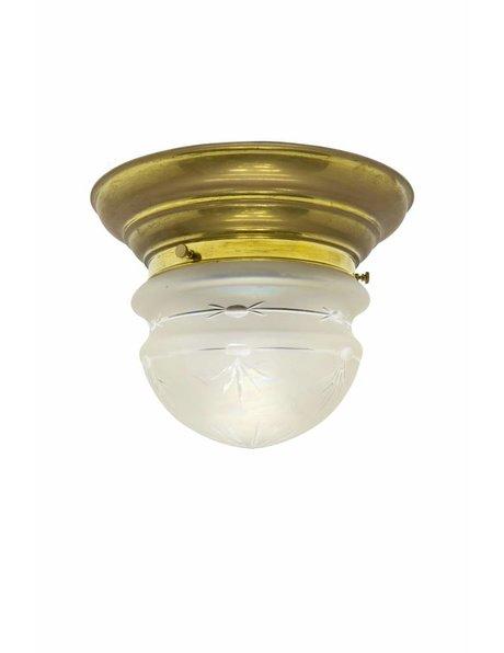 Antique ceiling lamp, cut glass, 1930s