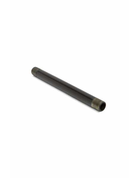 Black tube of 10 cm / 4 inch, 1.0 cm / 0.4 inch, coated metal