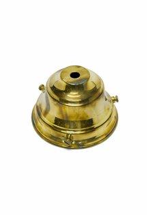Glasdrager, Goudkleurig Koper, 9.5 cm Diameter