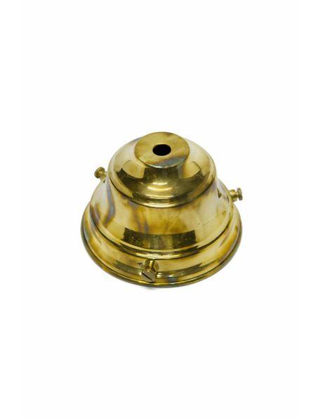 Vintage lamp shade holder of gold-coloured copper