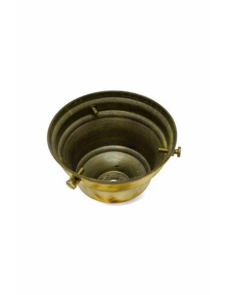 Vintage lampglas-drager van goudkleurig koper