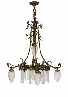 Grote Hanglamp, Brocante, Brons