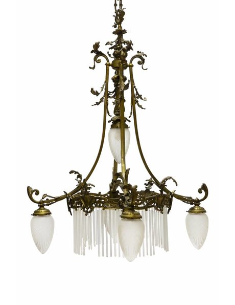 Brocante Hanglamp, Brons, ca. 1910