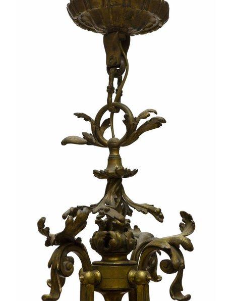 Brocante hanging lamp, bronze, 1910s