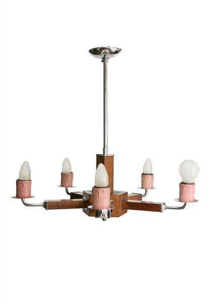 Chandelier Pendant Lamp, with Wood