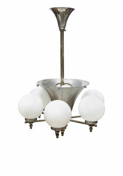 Art Deco Hanglamp, 6 Armen