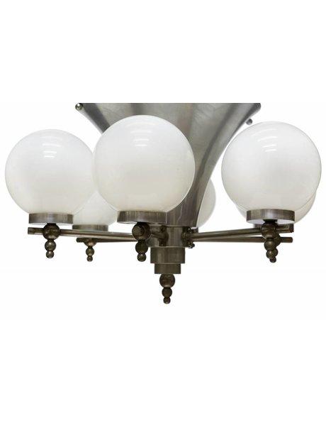Stijvolle Art Deco hanglamp, met 7 lichtpunten, ca. 1930