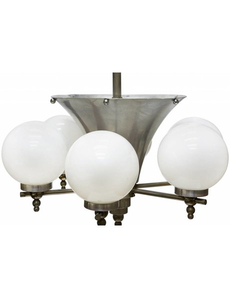 Stylish Art Deco pendant lamp, with 7 light points, 1930s