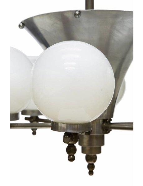 Stylish Art Deco pendant lamp, with 7 light points, 1930s
