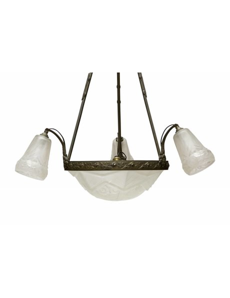 Art Deco hanging lamp from French origin, 1930s