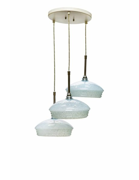 Cascade hanging lamp with 3 round lampshades, 1960s
