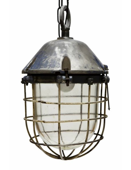 Industrial cage lamp, tough and robust design