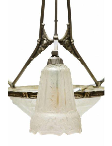 Art Deco hanging lamp, Maynadier, 1930s