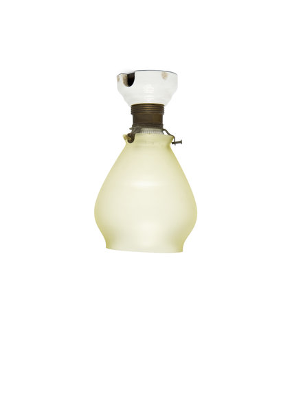 1930s Ceiling Lamp, Glass Shade