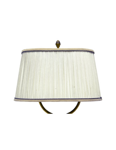 Beautiful table lamp with oval lampshade and square base, 1930s