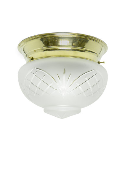 Classic Ceiling Lamp, Gracefully Cut Glass
