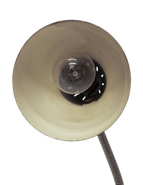 Industrial desk lamp, cream-coloured, 1950s