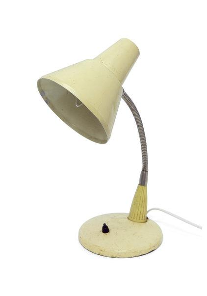 Desk Lamp, Industrial, Cream Coloured