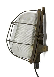Industrial Wall Lamp, Large Cage Lamp