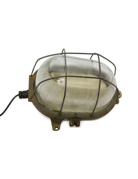 Cage lamp, industrial wall lamp, quite large model