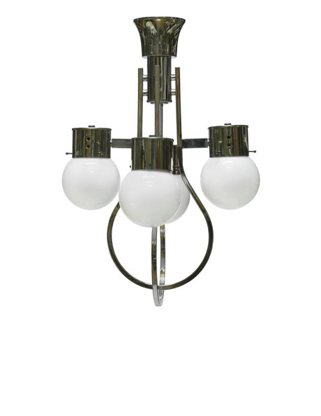 Beautiful hanging lamp, white spheres,1950s