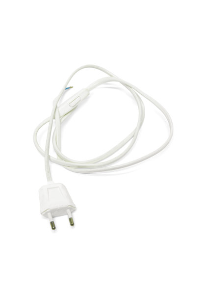 Lamp Wire with Plug and Switch, White