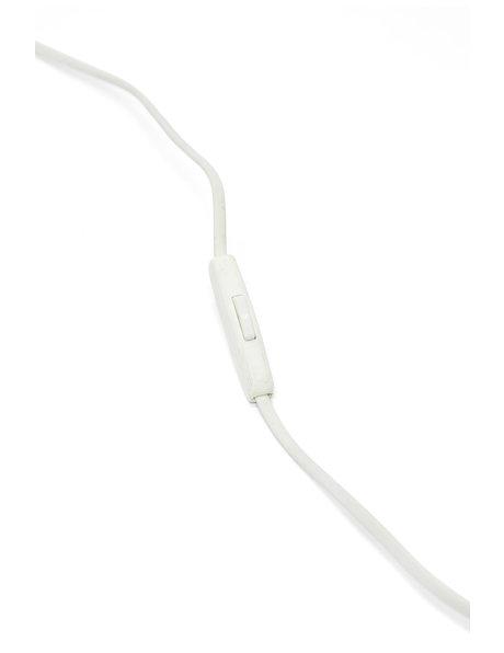 Wit lampsnoer met knippertje en stekker