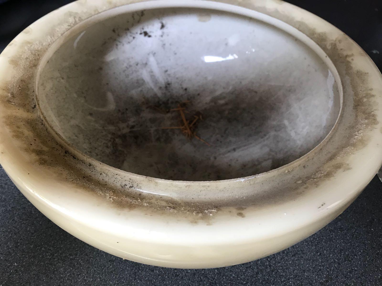 Lampglas - nog niet schoon