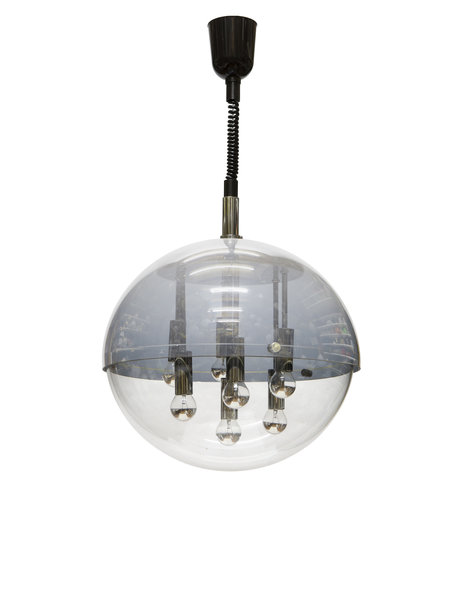 Particularly beautiful hanging lamp, on pull pendulum, 1960s