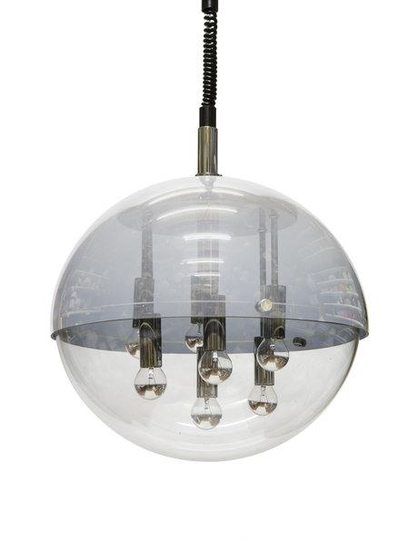 Bijzonder fraaie hanglamp, aan trekpendel, 1960