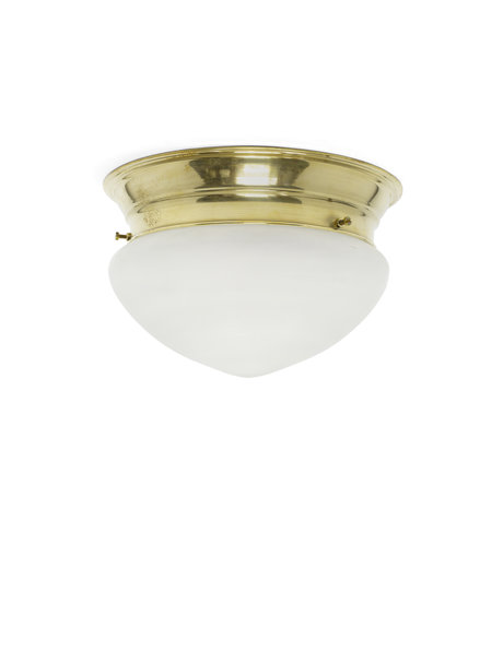 Old ceiling lamp, 1940s, frosted glass shade