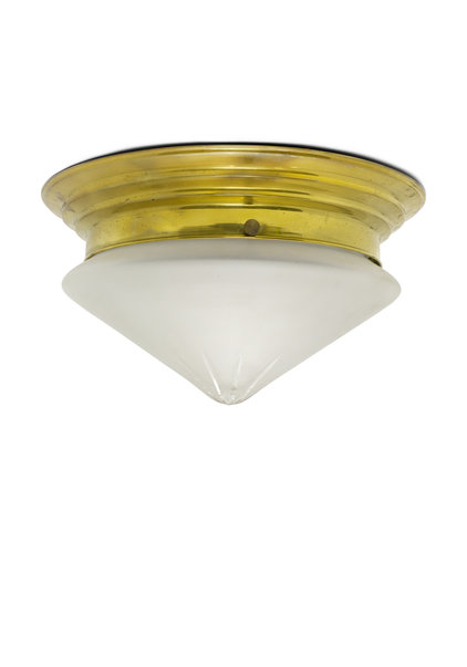 Classic Ceiling Lamp, Frosted Glass Point, Stylish, 1930s